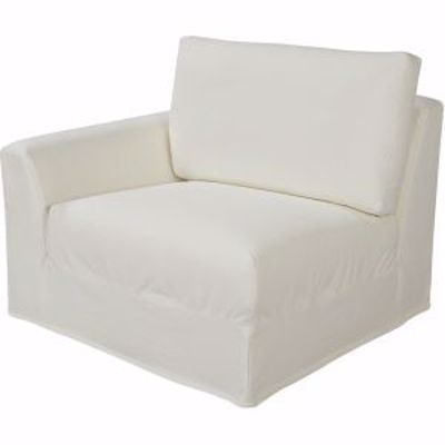 Picture of BERMUDA OUTDOOR SLIPCOVERED ONE ARM CHAIR