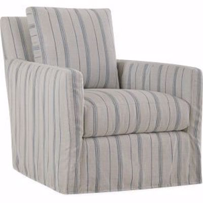 Picture of NANDINA OUTDOOR SLIPCOVERED SWIVEL CHAIR