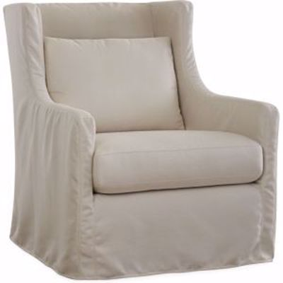 Picture of LOTUS OUTDOOR SLIPCOVERED SWIVEL GLIDER