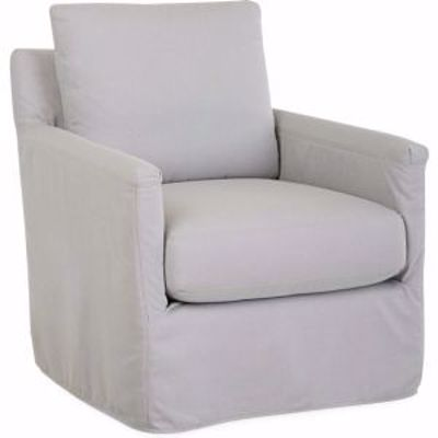 Picture of SEASIDE OUTDOOR SLIPCOVERED SWIVEL CHAIR