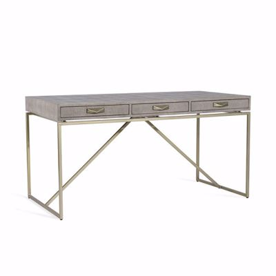 Picture of ATHERTON SHAGREEN DESK - GREY