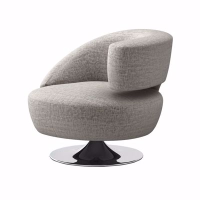 Picture of ISABELLA SWIVEL RIGHT CHAIR - PEARL