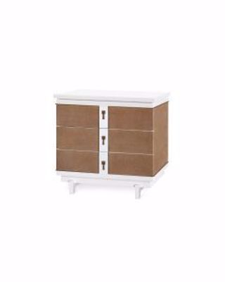 Picture of 3-DRAWER-SIDE-TABLE-WHITE-GRANT