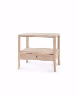 Picture of 1-DRAWER-SIDE-TABLE-BLEACHED-CERUSED-OAK-PAOLA