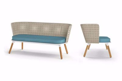 Picture of DAISY MAE CHAT 2-SEATER (TEAK LEGS)
