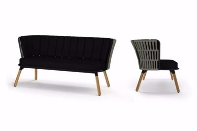 Picture of DAISY RAE CHAT 2-SEATER (TEAK LEGS)
