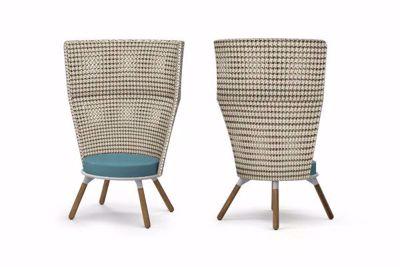 Picture of DAISY MAE CHAT CHAIR HIGH BACK (TEAK LEGS)